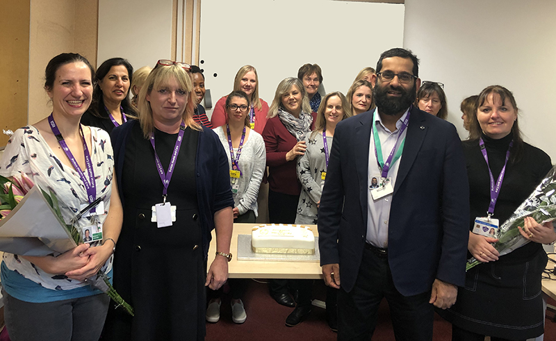 Sutton Health Visiting Team celebrate the Gold Award